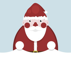 Santa Claus and white paper