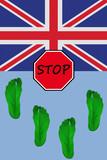 U K  illegal immigration poster