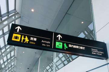 空港の案内板