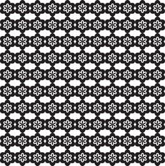 Motif Fleurs en Frise Composition Noir / Blanc