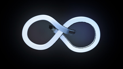 Infinity neon lamp