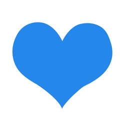 blue heart and really love you