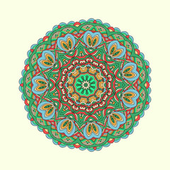Oriental colorful traditional ornament.