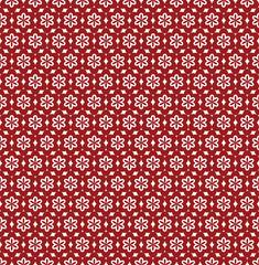 Fond Frise Motif Fleurs Composition en Rouge et Blanc