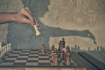 Man playng chess