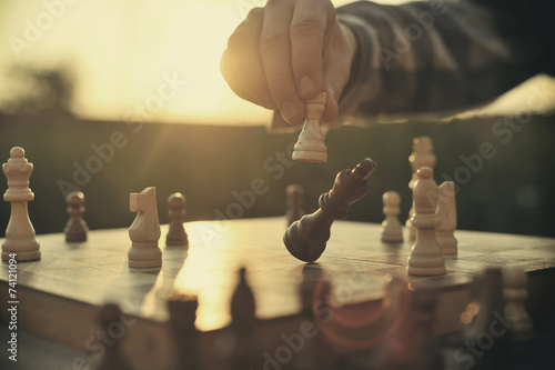 canvas print picture Chess