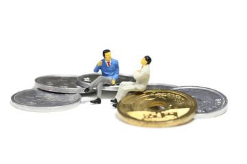 コインとビジネスマン