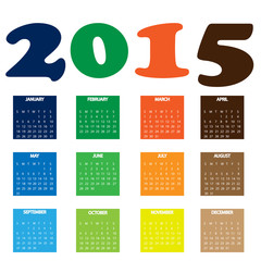2015 colorful calendar
