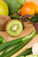 Vegetables with kiwi
