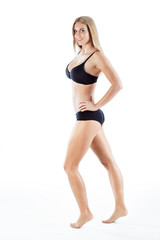Slender sporty woman