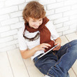 beauty teenager with tablet pc