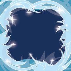 blue frosty background - vector winter frame