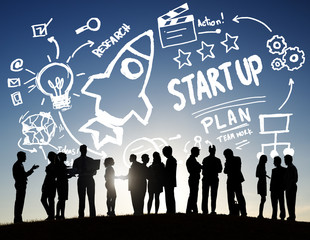Business Launch Success Communication Concept