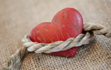coeur lien de corde