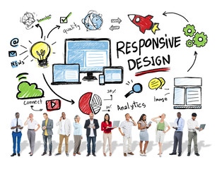 Responsive Design Internet Web Business People Technology Concep