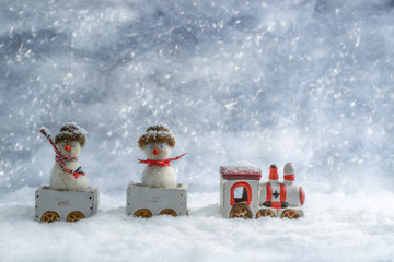 Snowmen In Train
