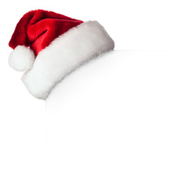Santa hat on poster