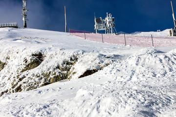 Top of snow mountain.
