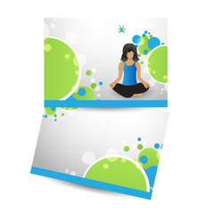 Corporate brochure for gym, publishing,print & presentation