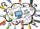 Fototapety Content Creativity Digital Graphic Layout Webdesign Webpage Conc