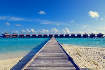 water villas in tropical resort