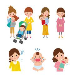 子育て 女性 複数