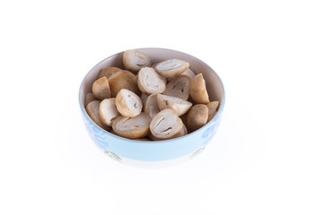 mushroom slice in bowl prepare cooking