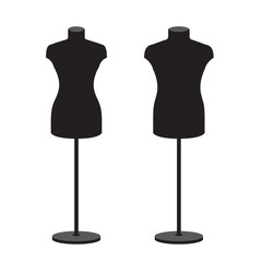 Mannequins for clothes male and female. Vector set.