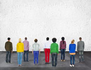 Multi Diversity Ethnicity Friendship Teamwork Brick Concept
