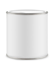 White can of paint