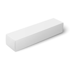 White paper box template.