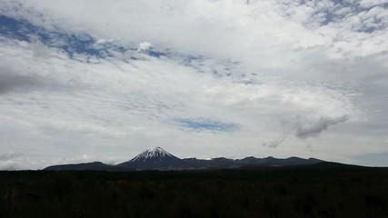 Mount Ngauruhoe in Tongariro National Park New Zealand