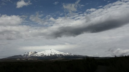 Mount Ruapehu in Tongariro National Park New Zealand