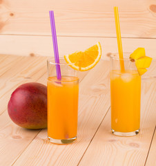 Orange juice and mango