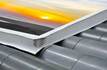 magazine binding process after offset print.