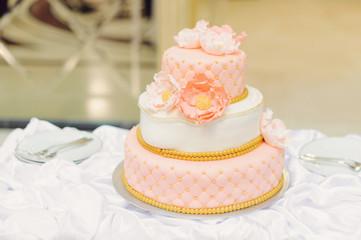 Beautiful Cake at Restaurant