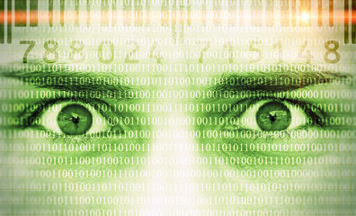 Data security - face with code