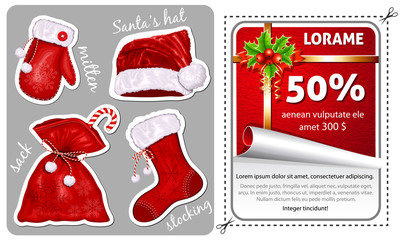 Sale Christmas stickers.