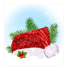 Santa's Christmas hat.