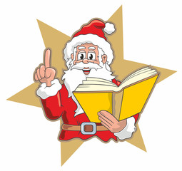 Santa with Golden Book