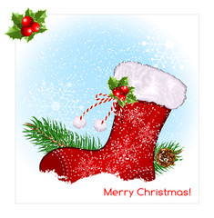Christmas symbol stocking