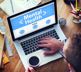 Digital Online Mental Health Healthcare and Medicine Concept