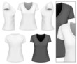 Women's v-neck t-shirt.