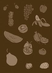 Fruits pattern vintage