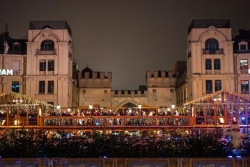 Münchner Stachus zur Weihnachtszeit