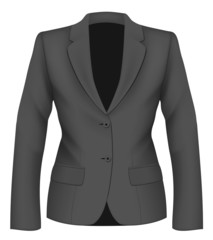 Ladies black suit jacket.