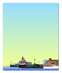 港のフレーム