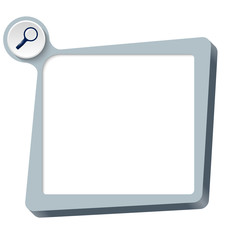 vector text box for any text and magnifier