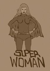 Super woman vintage