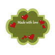 Made with love label
